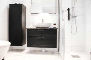 Stilren badrumsrenovering i Stockholm